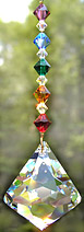 Sparkling Bell Crystal with Rainbow Beads
