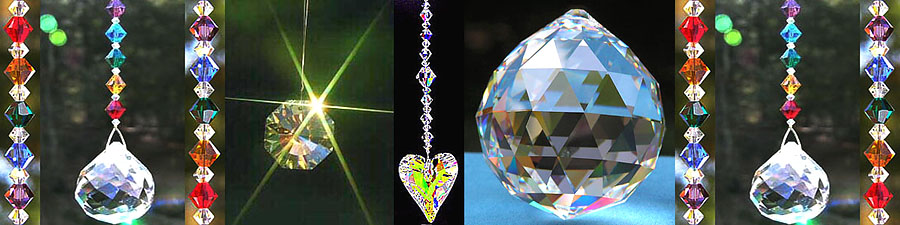 Sparkly Swarovski Crystal Makes Rainbow Colors.