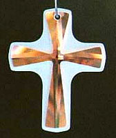 Frosted Cross ~ 38mm