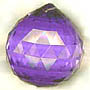 Crystal Ball Blue Violet Purple