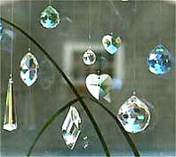 Elegant Crystal Collection In A Window