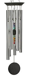 Chakra Seven Stones Chime Large 24 Inches Windchime with Genuine Colorful Stones