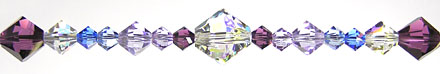 Enchantment Crystal Bead Hanger Blue and Purple - Swarovski Beads