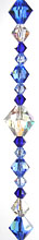 Enchantment Crystal Bead Hanger Medium Sapphire Blue - Swarovski Beads