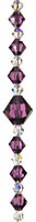 Simple Beauty Crystal Bead Hanger Deep Amethyst Purple - Swarovski Beads