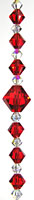 Simplicity Crystal Bead Hanger Brilliant Red - Swarovski Beads