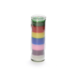 Seven Layer Rainbow Chakra Container Candle.