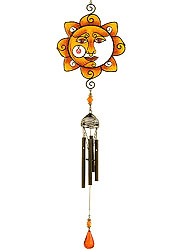 Sunny Smile Black Wireworks Windchime.