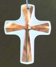 ~ Frosted Cross Pendant 38ab or 38Jet ~