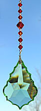 Baroque Star Peridot 63mm With Red Crystal Bead Hanger
