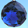 Dark Sapphire Blue Crystal Ball ~ Great New Color from Swarovski!