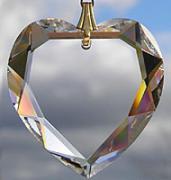 Swarovski Flat Beveled Heart Crystal