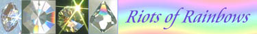 Sundrop Crystal Has Swarovski Crystal Prisms. Crystals Make Riots of Rainbows!