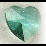 Swarovski Crystal Hearts - COLORS!