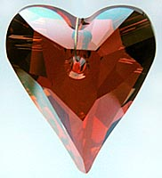 Wild Heart Swarovski Crystal - Red Magma