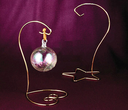 Beautiful Brass Heart Base or Star Base Ornament Hanging Stand