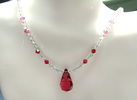 ~ Jen's Gems Crystal Droplet Necklace ~