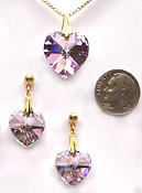 ~ Heart Prism Pendant- Sparkling Colors ~