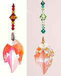 Leaf 45AB with Spring or Autumn Colored Crystal Beads!
