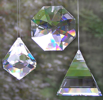 Crystal Bell with Crystal Flame and Crystal SunDancer! Fabulous Big Crystals For Amazing Sparkle and Rainbows!