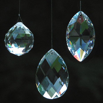 Beautiful Shining Crystal Ball, Almond, and Marquise