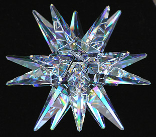 Gorgeous 120ab Moravian Star Crystal Sculpture Can Either Stand or Hang!