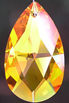 Fancy Pear 50mm Crystal in Luscious Golden Honey Topaz Color