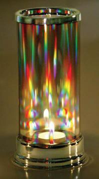 Wonderful Prism Candle Lantern Makes Dancing Rainbows