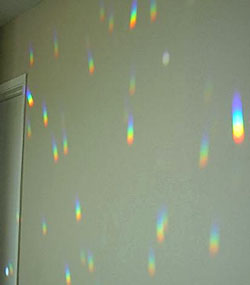 Rainbows On a Wall From Crystals! Enjoy Rainbows On Any Sunny Day!